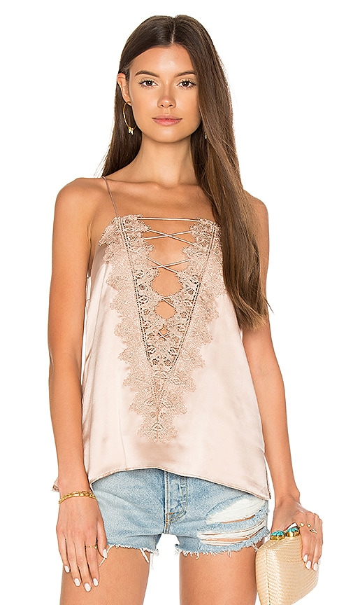CAMI NYC The Charlie Charmeuse Cami in Rose