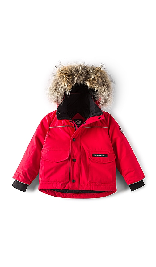 Canada Goose Lynx Coyote Fur Trim Parka in Red