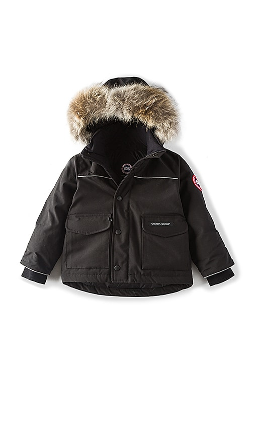 Canada Goose Lynx Coyote Fur Trim Parka in Black