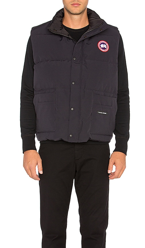 Canada Goose womens outlet fake - Canada Goose Freestyle Vest in Navy | REVOLVE