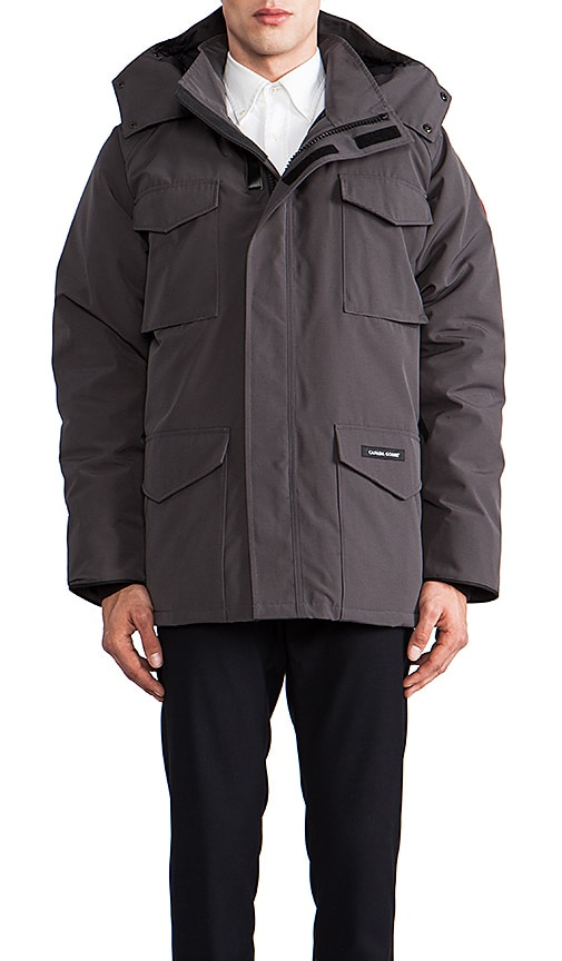 Canada Goose womens outlet price - Canada Goose Constable Parka in Graphite | REVOLVE
