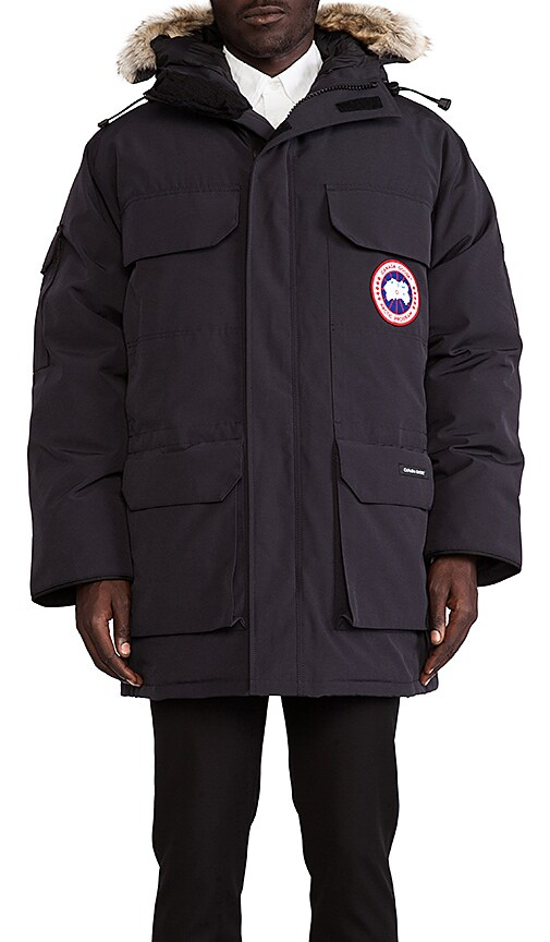 Canada Goose Expedition Coyote Fur Trim Parka in Navy