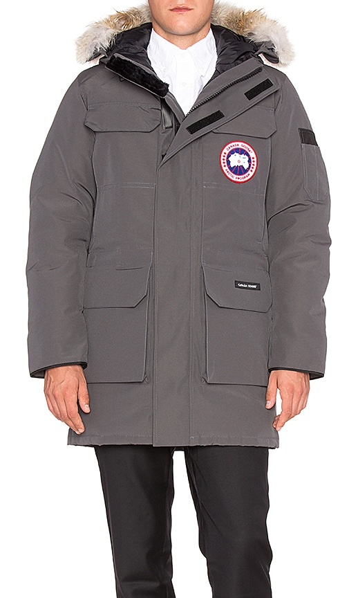Canada Goose Citadel Coyote Fur Trim Parka in Gray