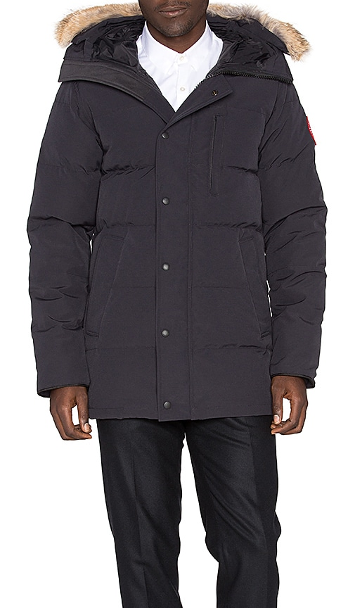 Canada Goose Carson Coyote Fur Trim Parka in Navy