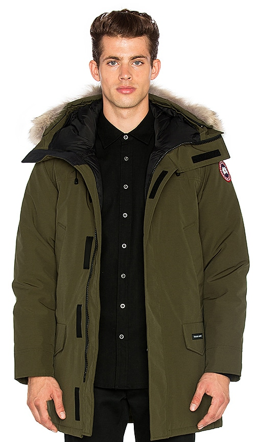 Canada Goose Langford Coyote Fur Trim Parka in Olive
