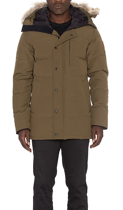 Canada Goose Carson Coyote Fur Trim Parka in Army