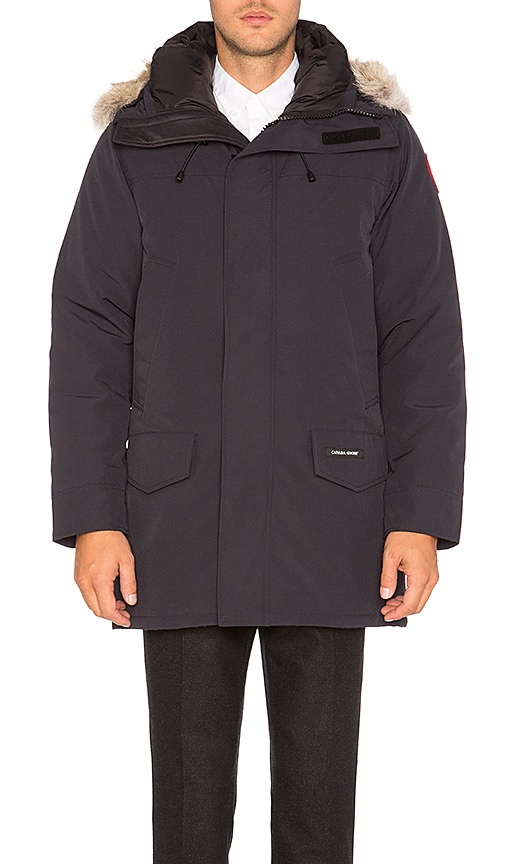 Canada Goose Langford Coyote Fur Trim Parka in Navy