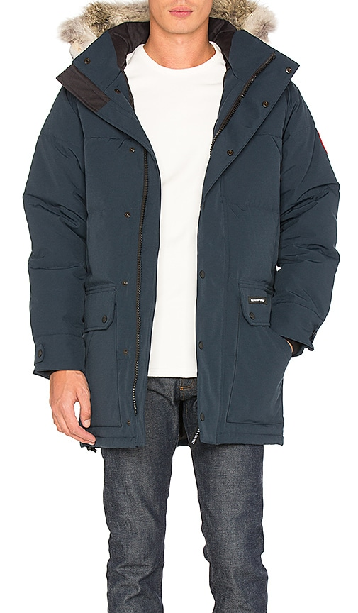Canada Goose Emroy Coyote Fur Trim Parka in Navy