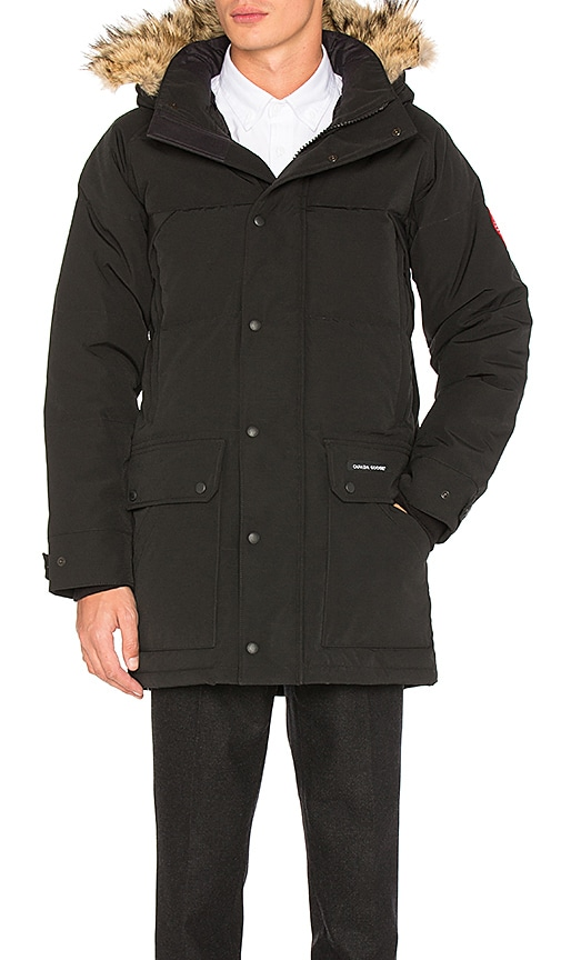 Canada Goose Emroy Coyote Fur Trim Parka in Black