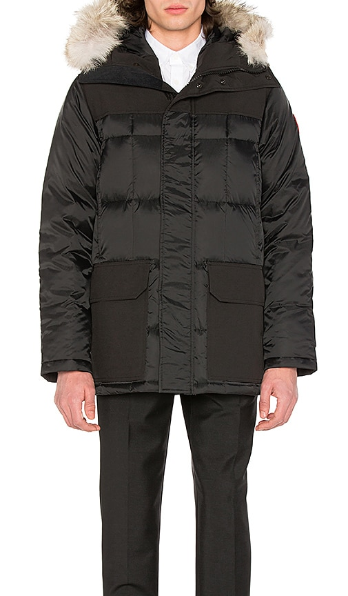 Canada Goose Callaghan Coyote Fur Trim Parka in Black
