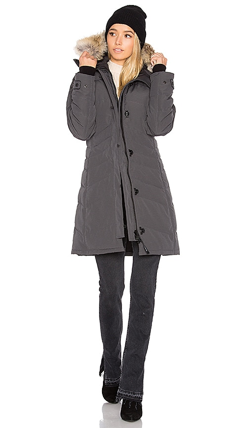 Canada Goose Lorette Parka with Coyote Fur Trim in Graphite 80%OFF