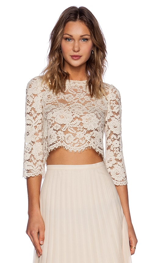 Candela Crawley Top in Ivory