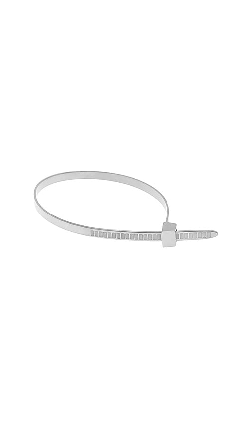 Cast of Vices Zip Tie Bracelet in Metallic Silver