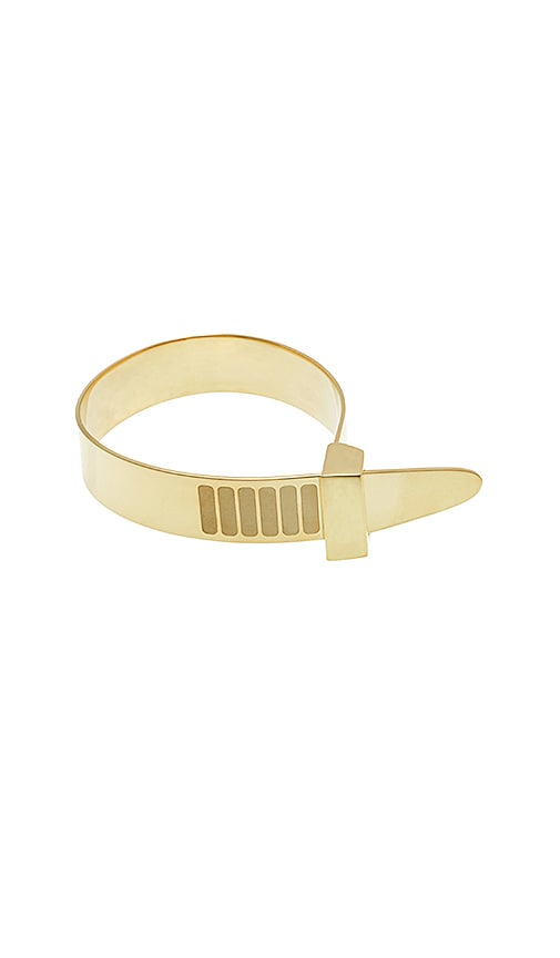 Cast of Vices Zip Tie Bracelet in Metallic Gold