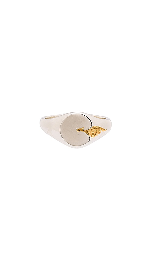 Cast of Vices Sterling Silver With Gold Fill Ring in Metallic Silver