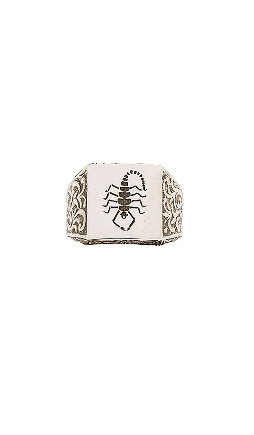 Cast of Vices x Herman Scorpion Ring in Metallic Silver