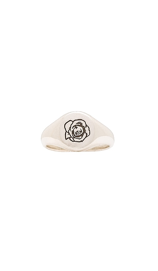 Cast of Vices x Herman Rose Ring in Metallic Silver