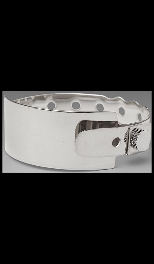 Coming or Going Rhodium Plated Medical ID Bracelet