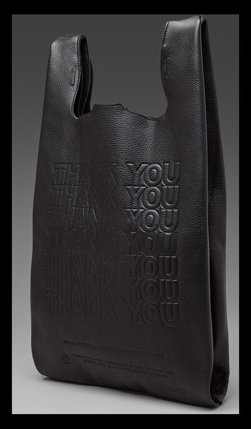 Thank You Corner Store Leather To-Go Bag