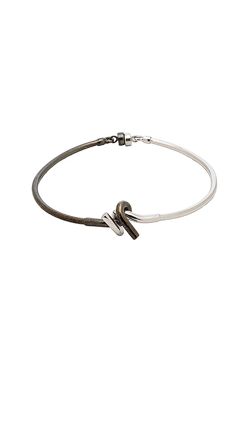 Cast of Vices Barbed Wire Bracelet in Metallic Silver