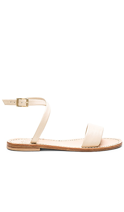 Capri Positano Ankle Wrap Sandal in Cream
