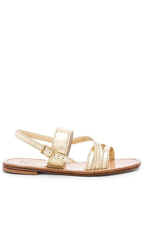Capri Positano Roman Sandal in Metallic Gold