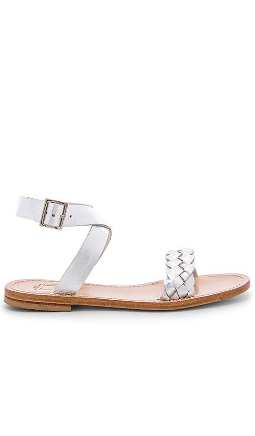 Capri Positano Solaro Sandal in Metallic Silver