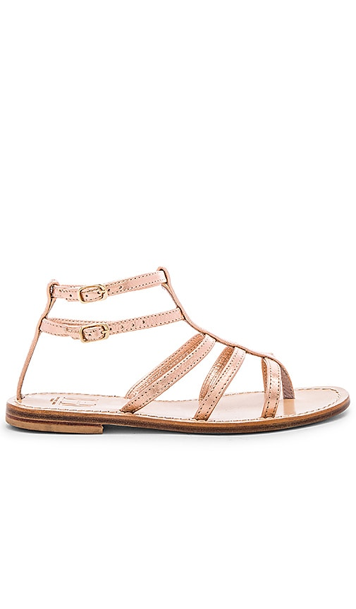 Capri Positano Tragara Sandal in Metallic Copper