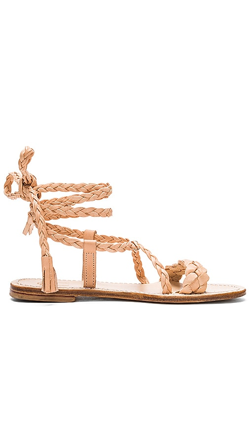Capri Positano Faito Sandal in Raw Tan Light