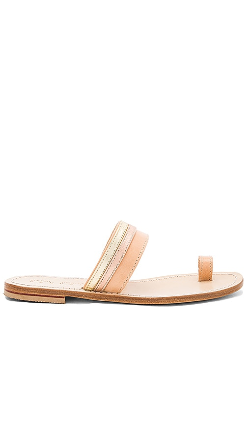 Capri Positano Single To Band Sandal in Beige