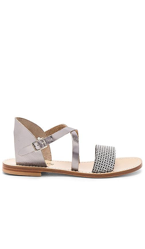 Capri Positano Ameno Sandal in Metallic Silver