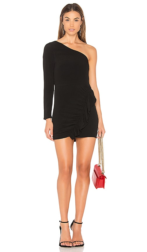 Capulet Beverly One Shoulder Dress in Black