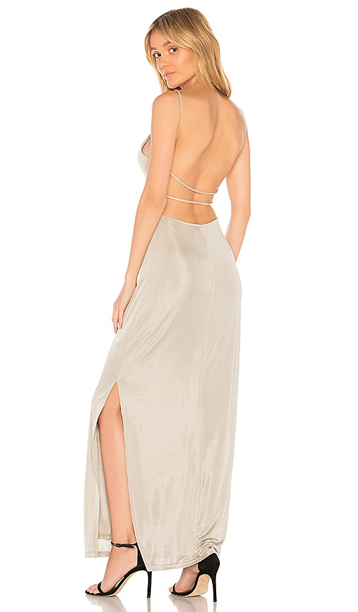 Capulet Maya Dress in Metallic Silver