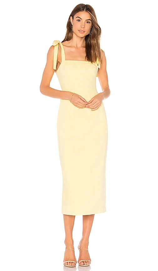 Capulet Camille Midi Dress in Yellow