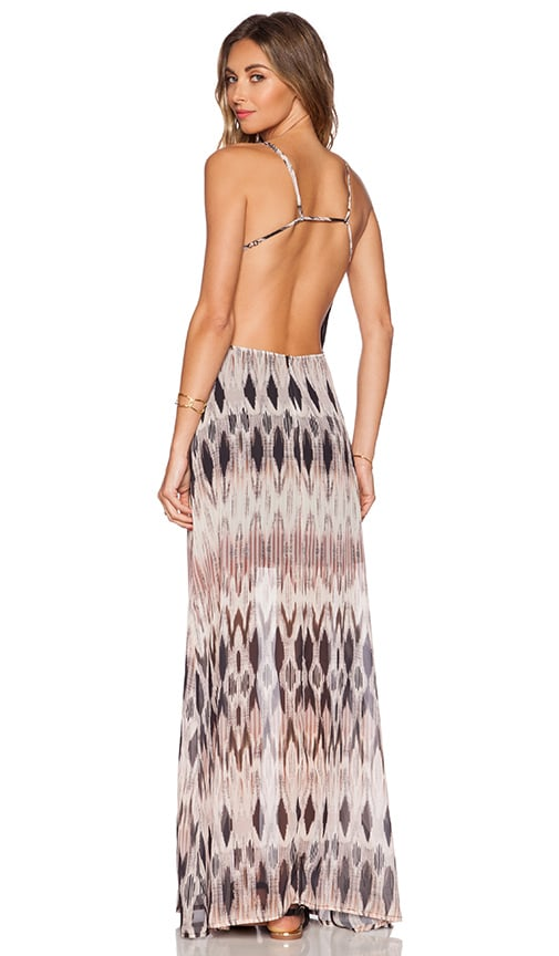 Capulet Halter Maxi Dress in Rose Ikat