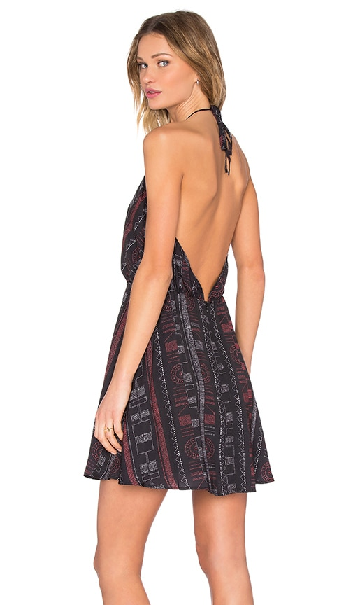 Capulet Tunic Halter Dress in Black