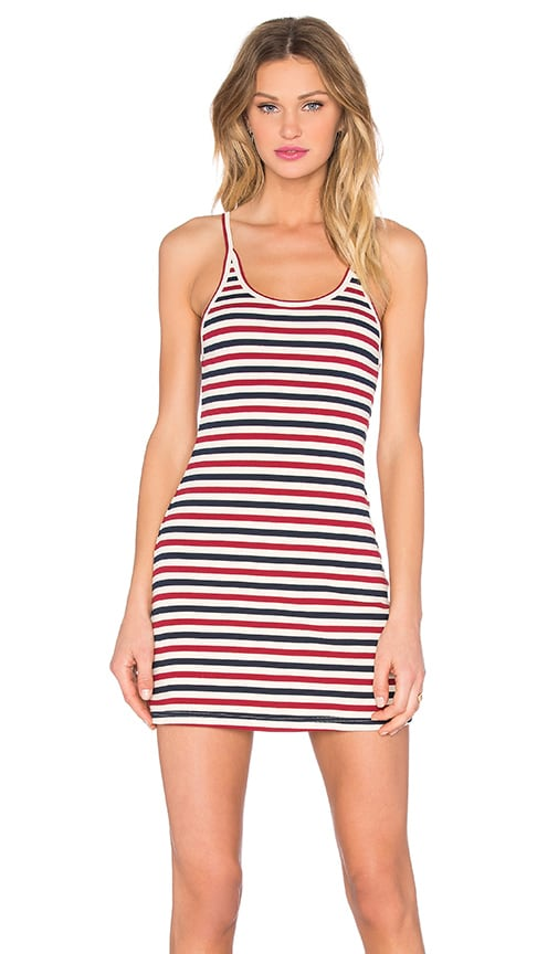 Capulet Mini Dress in Red, Cream, & Navy Stripe
