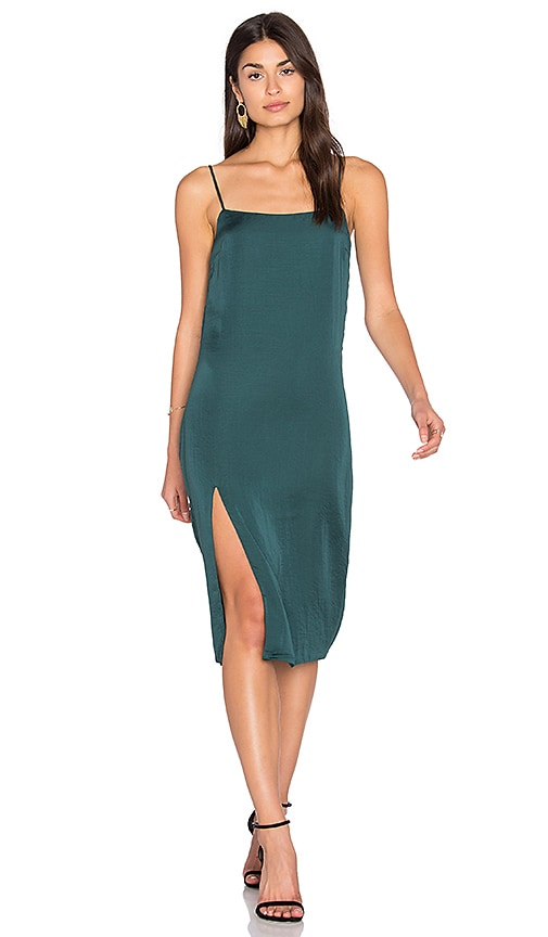 Capulet Midi Slip Dress in Green