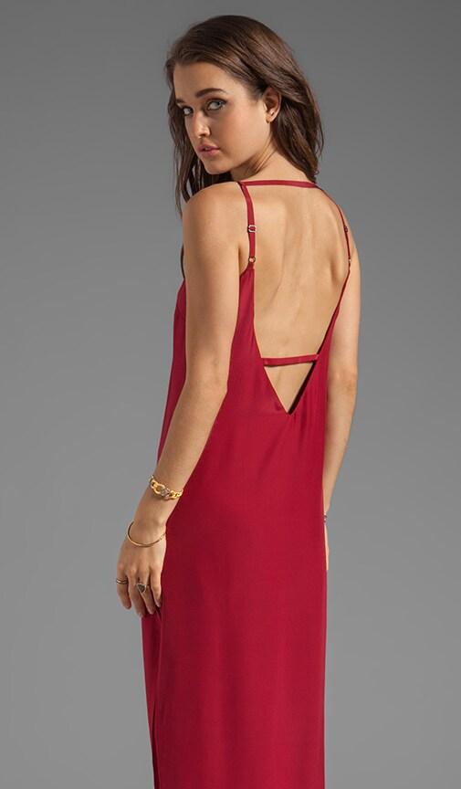 Plunging Back Maxi Dress