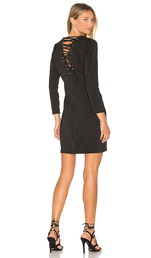 Capulet Lace Up Bodycon Dress in Black