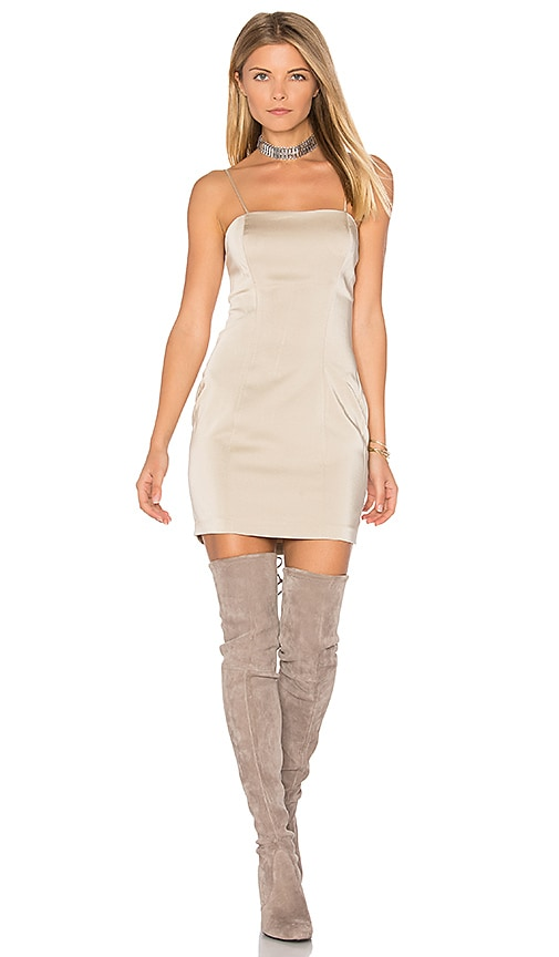 Capulet Amber Bodycon Dress in Beige
