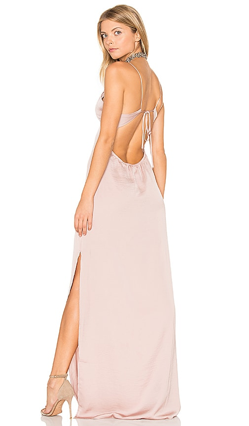 Capulet x REVOLVE Deep V Maxi Dress in Blush