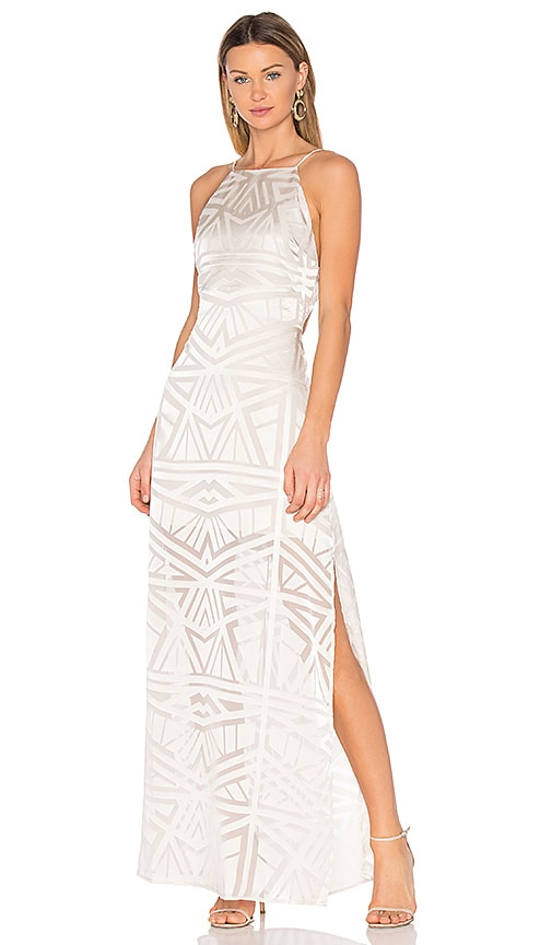 Capulet Anais Halter Maxi Dress in White