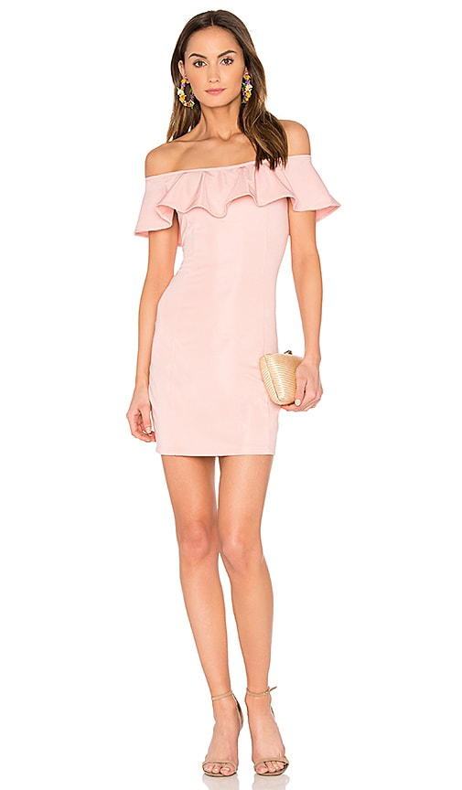 Capulet x REVOLVE Eva Off the Shoulder Mini Dress in in Rose