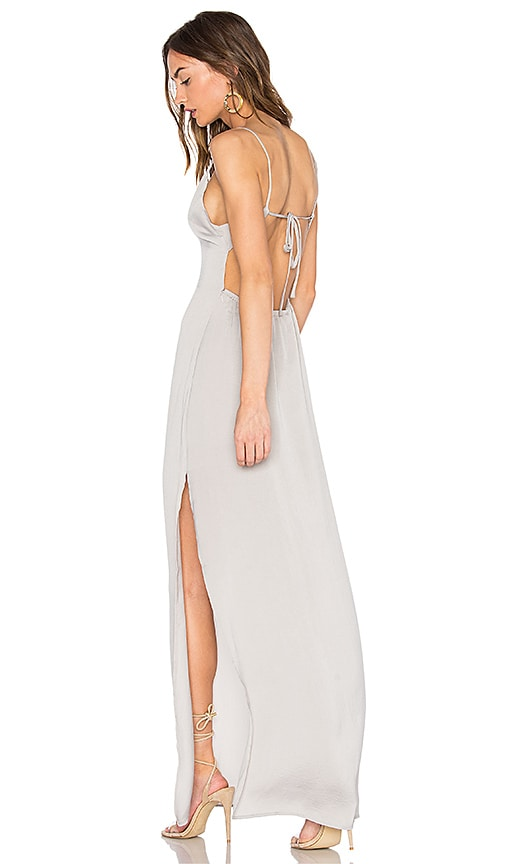 Capulet x REVOLVE Deep V Maxi Dress in Gray