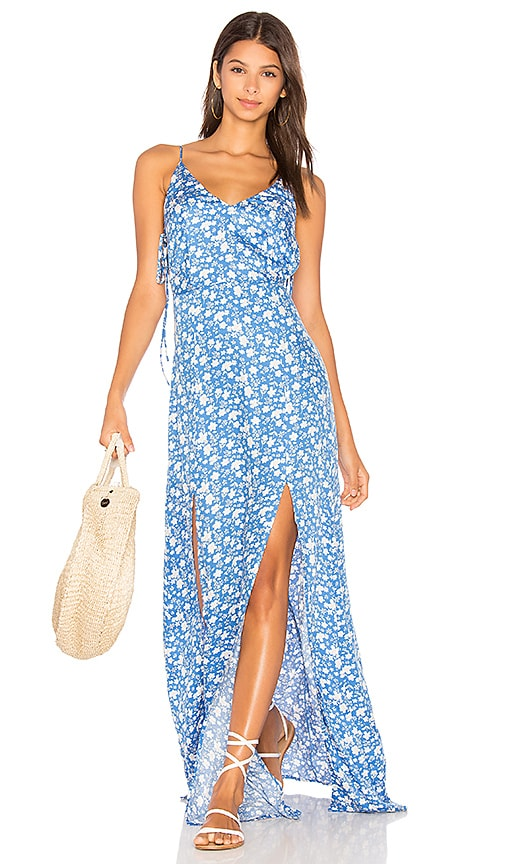 Capulet Kena V Neck Maxi Dress in Blue