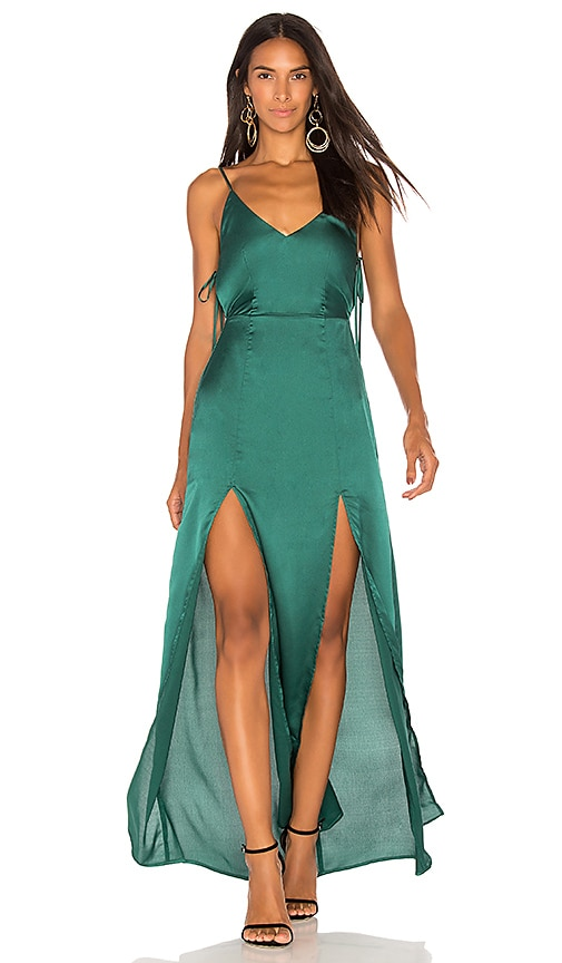 Capulet x REVOLVE Gina Plunging Maxi Dress in Green