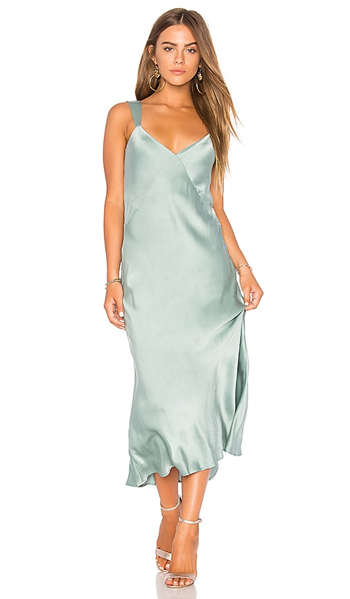 Capulet Ally Midi Slip Dress in Green