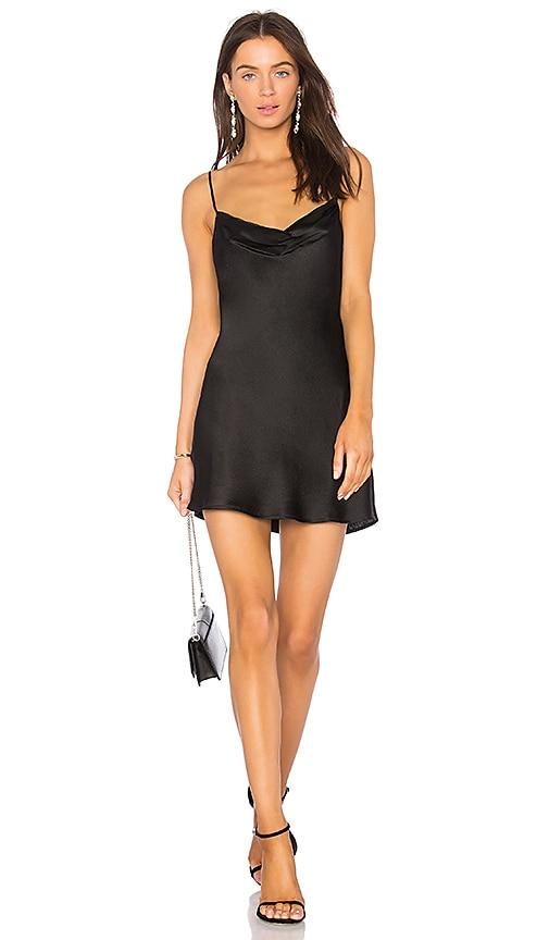 Capulet Jade Slip Dress in Black