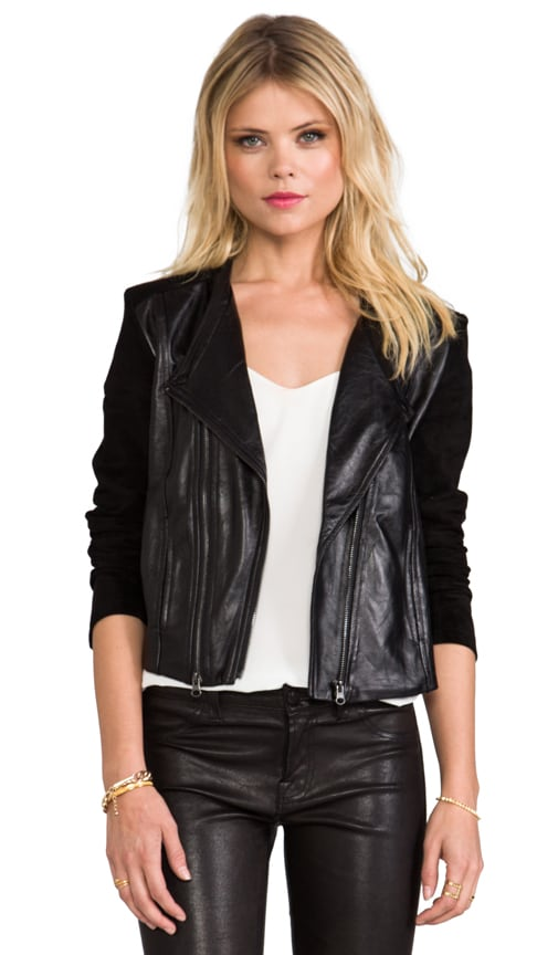 Collarless Moto Jacket
